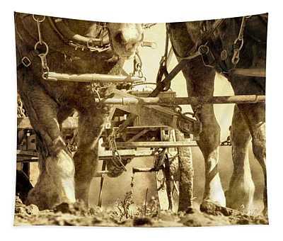 Vintage Plough Tapestry