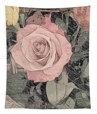 Vintage Romance Rose Tapestry