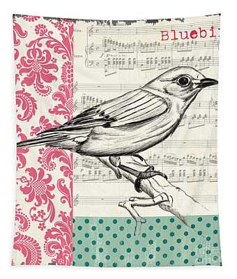 Vintage Songbird 1 Tapestry