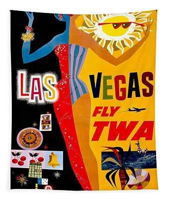Vintage Travel Poster - Las Vegas Tapestry
