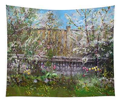Viola's Apple And Cherry Trees Tapestry
