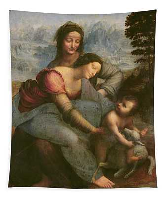 Virgin And Child With Saint Anne Tapestry