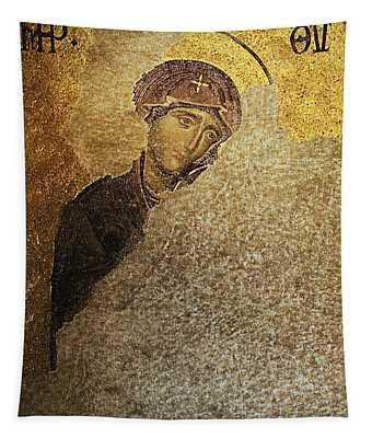 Virgin Mary-detail Of Deesis Mosaic  Hagia Sophia-day Of Judgement Tapestry