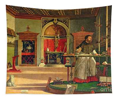 Vision Of St. Augustine Tapestry