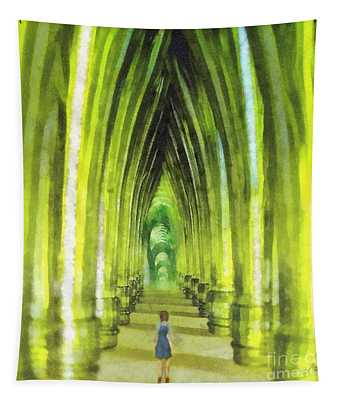 Visiting Emerald City Tapestry