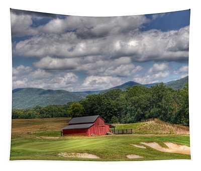 Vista Links Barn Tapestry