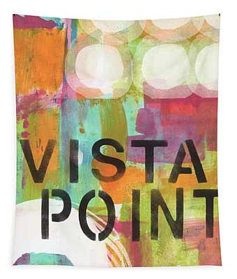 Vista Point- Contemporary Abstract Art Tapestry