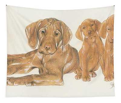 Vizsla Puppies Tapestry