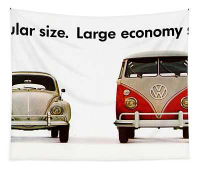 Volkswagen 1960s Vintage Advert Tapestry