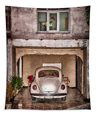 Vw Beetle Painting Tapestry