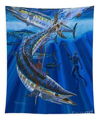 Wahoo Spear Tapestry