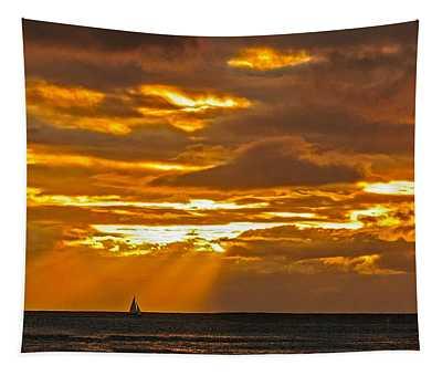 Waikiki Sun Set Tapestry