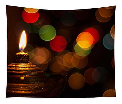 Waiting For Christmas Tapestry by Andrea Mazzocchetti