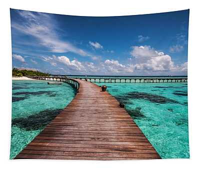 Walk Over The Water Tapestry