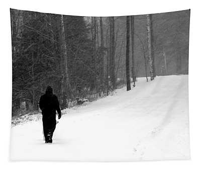 Tapestry featuring the photograph Walking In A Winter Wonderland by Patti Whitten