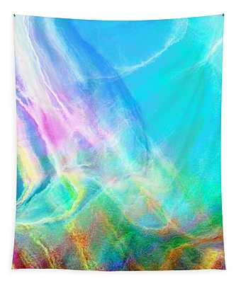 Warm Seas- Abstract Art Tapestry