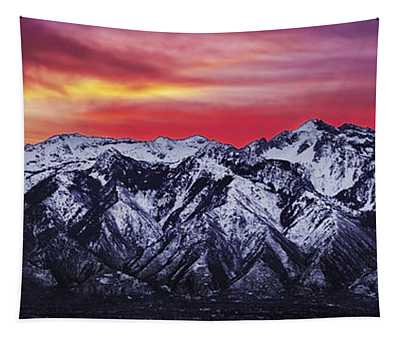 Wasatch Sunrise 3x1 Tapestry