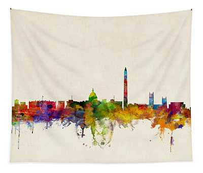 Washington Dc Skyline Tapestry