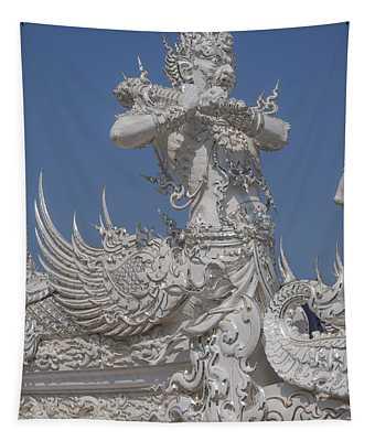 Wat Rong Khun Ubosot Causeway Guardian Dthcr0007 Tapestry