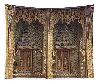 Wat Thung Setthi Ubosot Window Dthb1550 Tapestry