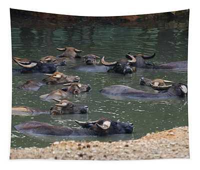 Water Buffalo Tapestry