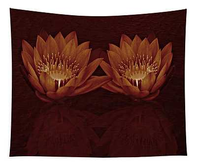 Water Lilies In Deep Sepia Tapestry
