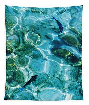 Water Meditation II. Five Elements. Healing With Feng Shui And Color Therapy In Interior Design Tapestry