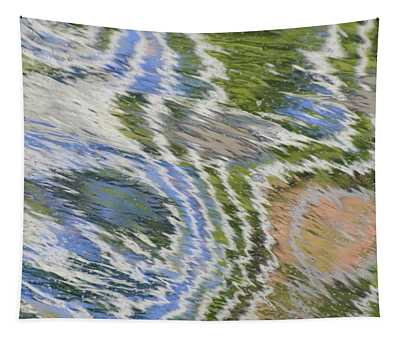 Water Ripples In Blue And Green Tapestry