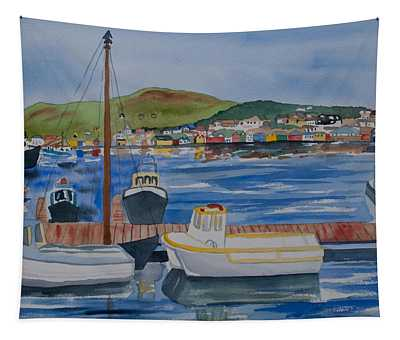 Watercolor - Dingle Ireland Tapestry