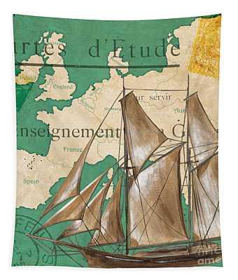Watercolor Map 1 Tapestry