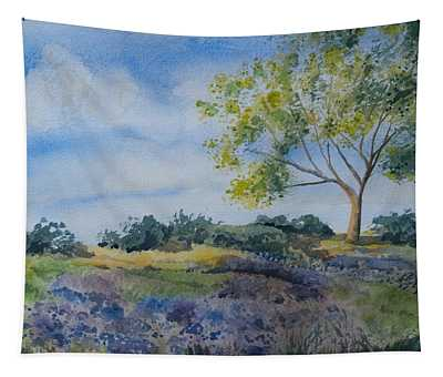 Watercolor - Tree And Meadow Tapestry