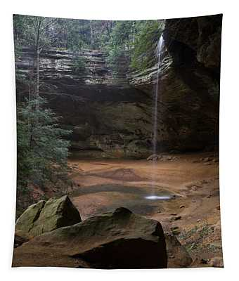 Waterfall At Ash Cave Tapestry
