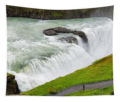 Waterfall Gullfoss In Iceland Tapestry