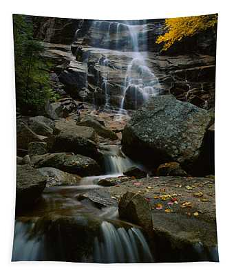 Waterfall In A Forest, Arethusa Falls Tapestry