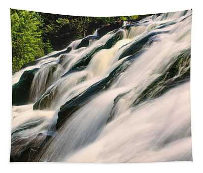 Waterfall In A Forest, Bond Falls Tapestry