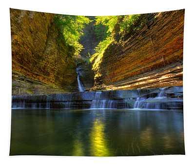 Waterfalls At Watkins Glen State Park Tapestry