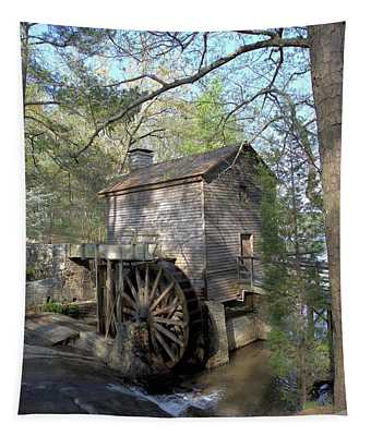 Waterwheel At Stone Mountain Tapestry