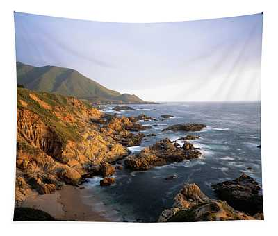 Waves Breaking On Garrapata Beach Tapestry