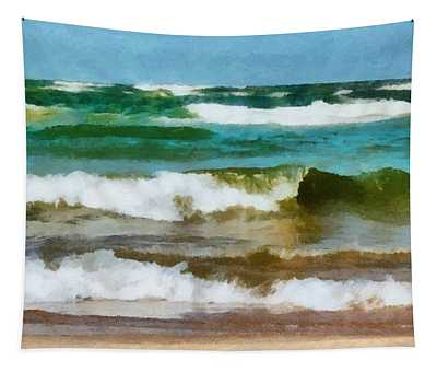 Waves Crash Tapestry