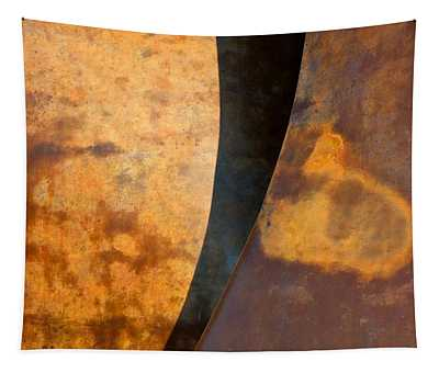 Weathered Bronze Abstract Tapestry