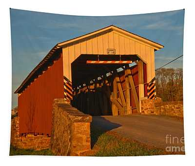 Weavers Mill Covered Bridge Lancaster County Tapestry