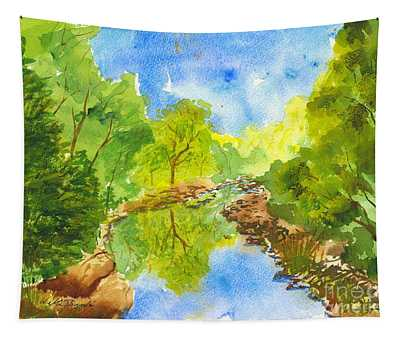 Weber River Reflection Tapestry