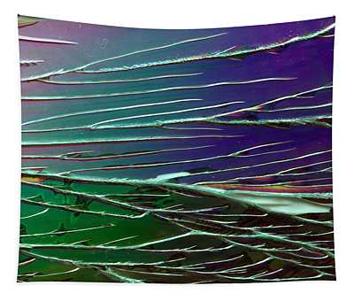 Webs Of Green And Purple Tapestry