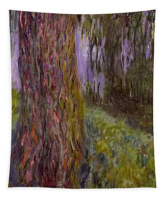 Weeping Willow And The Waterlily Pond Tapestry