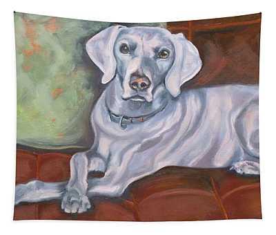 Weimaraner Reclining Tapestry