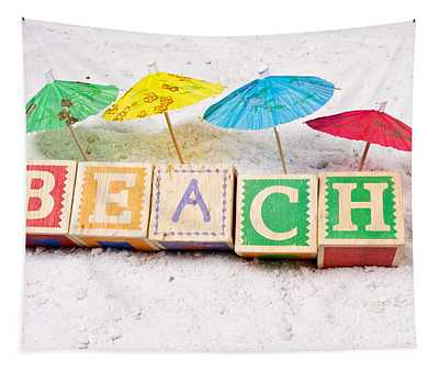 Welcome To The Beach Tapestry