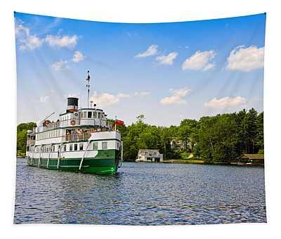 Wenonah II Steamship In A Lake, Lake Tapestry