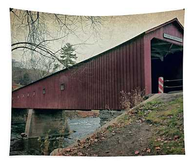 West Cornwall Covered Bridge 3 Tapestry