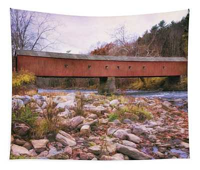 West Cornwall Covered Bridge 2 Tapestry