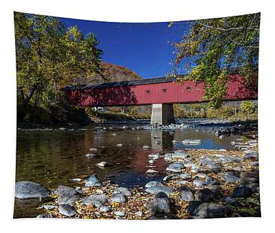 West Cornwall Covered Bridge Tapestry